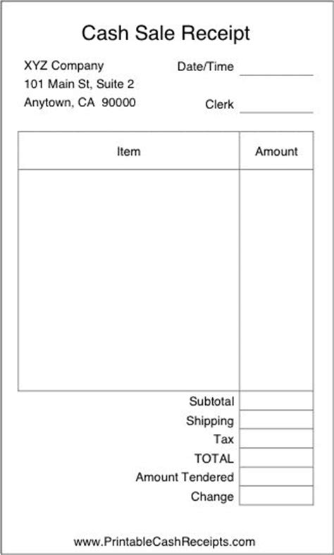 basic receipt template uk a basic airy receipt with plenty of room to write in