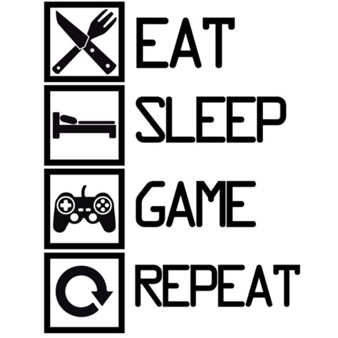 Eat Play Tv Sleep Kaos Gamers eat sleep repeat gaming t shirt