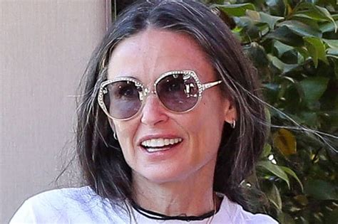 demi moore proves no one is flawless with silver hair on