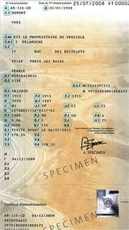 tout sur la carte grise le certificat d immatriculation