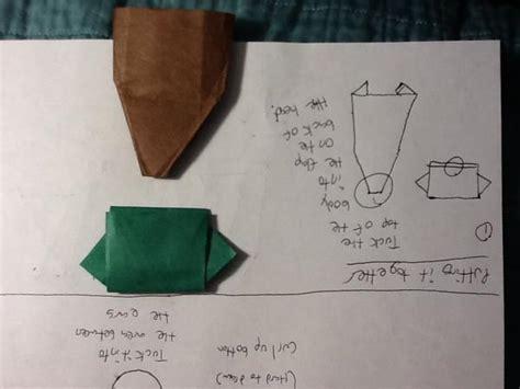 Origami Jahnke Yoda - simple jahnke yoda origami yoda