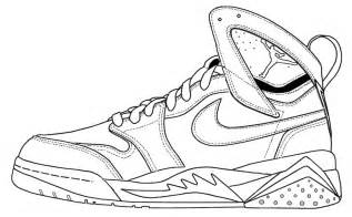 Jordan Sneakers Colouring Pages Page 2 sketch template
