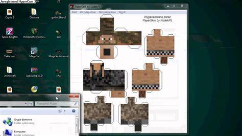 Minecraft Papercraft Review - poradnik jak zrobi艸 swojego skina z papercraft