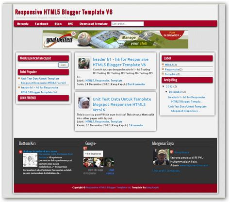 Html5 Responsive Templates For Blogger | responsive html5 v 6 blogger templates free download