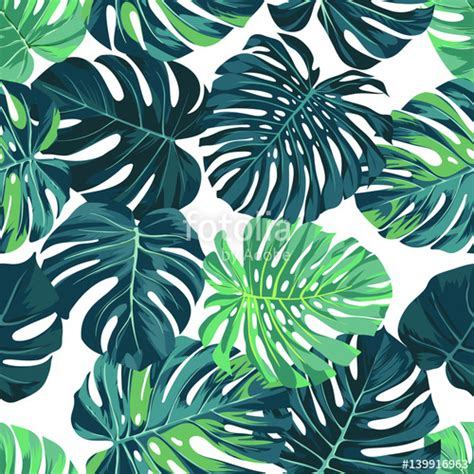 hawaii pattern photoshop quot vector seamless pattern with green monstera palm leaves