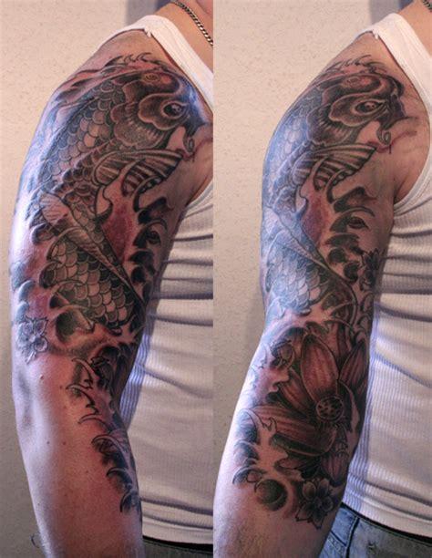tattoo koi flowers tattoo ideas by marianne o neal tattoos show