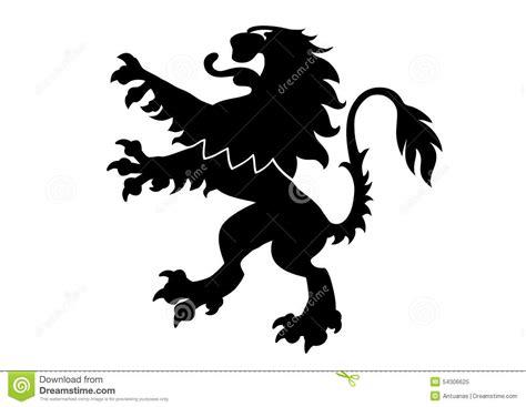 Heraldic Lion stock vector. Image of illustration, classic