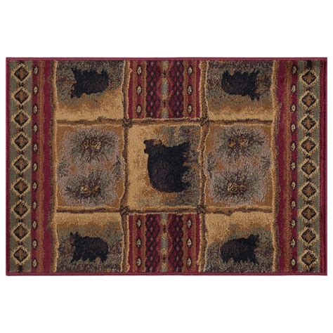 2 x 3 accent rugs tayse rugs nature red 2 ft x 3 ft accent rug ntr6570 2x3 the home depot