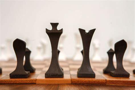 modern chess set modern chess set by robert lander at 1stdibs