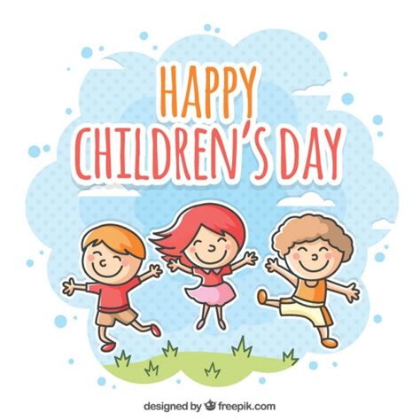 s day happy children s day illustration vector free