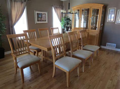 solid oak dining room set  hutch  buffet orleans