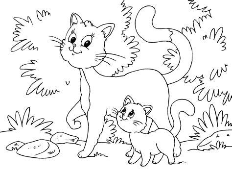 imagenes de gatos kawaii para colorear gato y gatito para imprimir paracolorear net