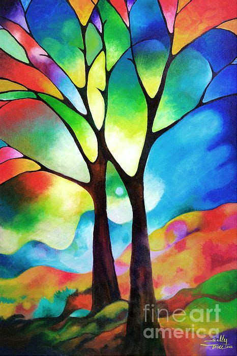 glass acrylic painting lovely acrylic painting of trees an elegant and stately