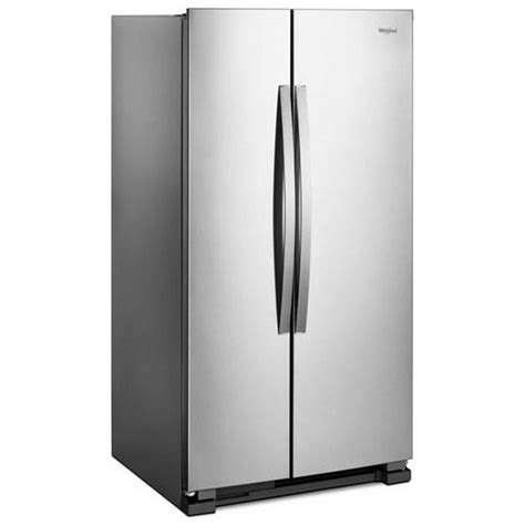 side by side mit eiswürfelbereiter wrs315snhm whirlpool 36 quot 25 cu ft side by side