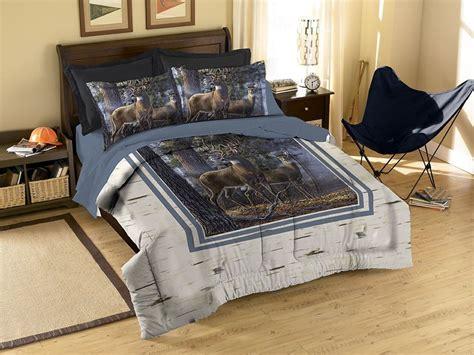 wildlife comforter sets deer wildlife comforter set wth pillow shams