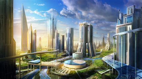 real futuristic 50 breathtaking future city concept art truly smart and