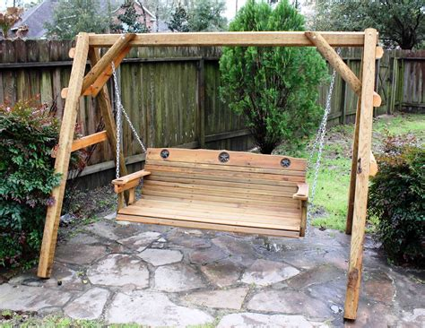 swing builder this 5 ft porch swing is made of acq pressure treated