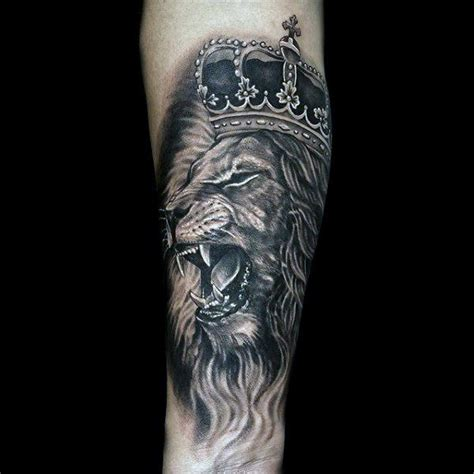 lion with crown tattoo design 50 with crown designs for royal ink ideas