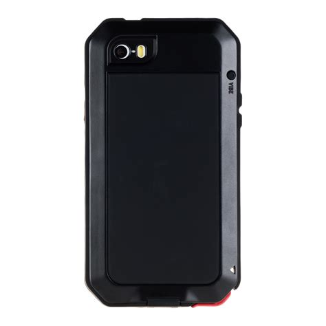 Armor Guard Iphone 5 5s Se Black Soft Hybrid Casing armor for apple iphone se 5 5s black metal cover protection