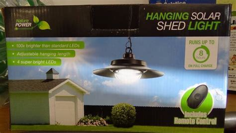 Nature Power Hanging Solar Shed Light by Nature Power Hanging Solar Powered Led Shed Light With