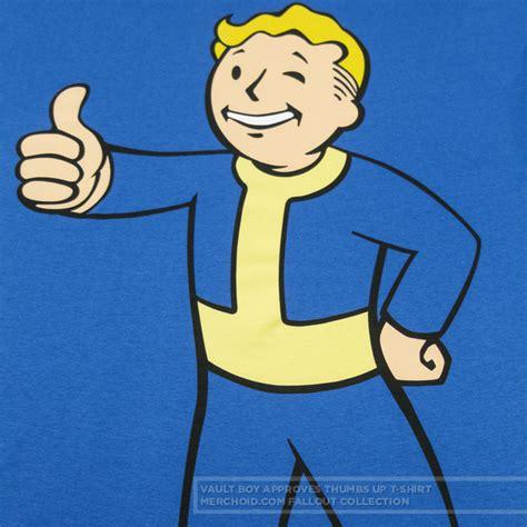 Boy Up T Shirt fallout vault boy approves thumbs up t shirt merchoid