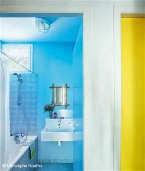 blue and yellow bathroom ideas colorful small cottage decor bright wall painting ideas