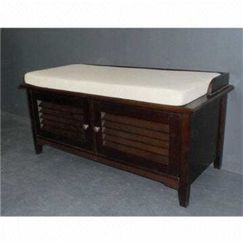 wooden bench and shoe cabinet in walnut color global sources