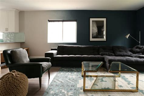 black white blue living room dramatic black ideas for painting a living room ifresh design