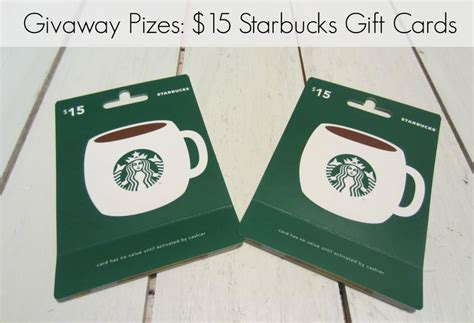 15 Starbucks Gift Card - thanksgiving giveaway