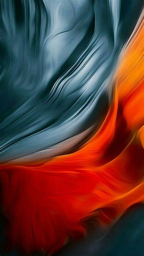abstract blue orange wallpaper ios artistic desktop hd