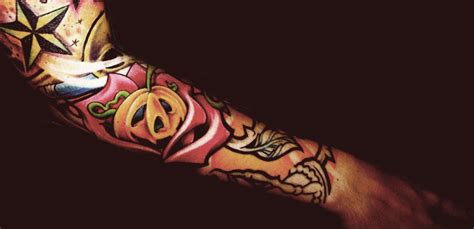 new school rose tattoo design pumpkin new school sleeve best ideas