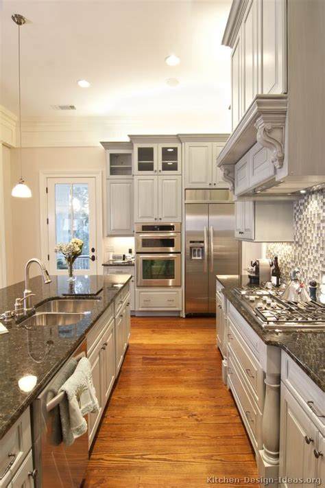 Kitchen Ideas Grey | pictures of kitchens traditional gray kitchen cabinets