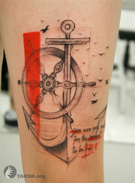 anchor and tiller tattoo tattoosals pinterest