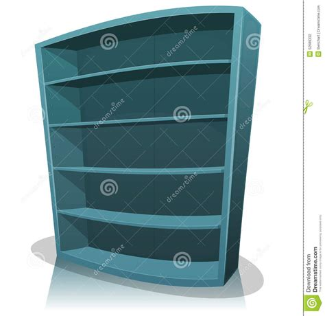 cartoon empty library bookshelf stock vector image