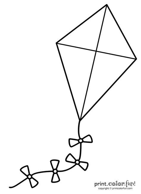 big kite coloring page print color fun