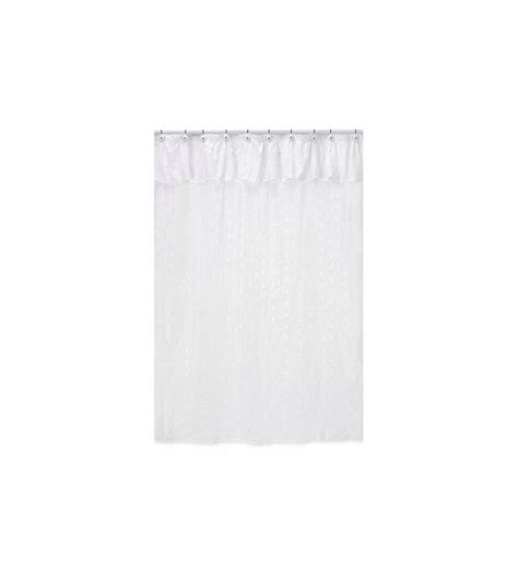 white eyelet shower curtain sweet jojo designs eyelet white shower curtain