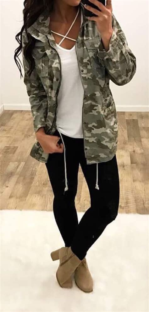 army pattern yoga pants yoga pants w fab booties an army jacket yes clothing