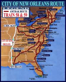 new orleans car route national route guide and railway information