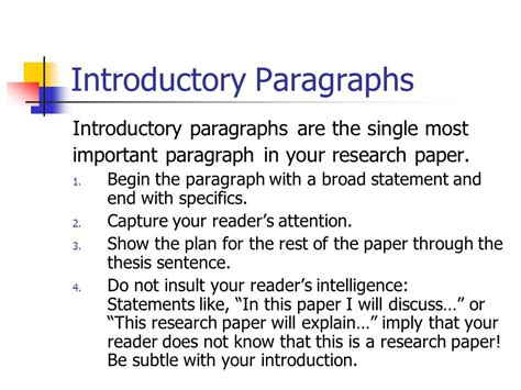 how to start a research paper introduction exles the abc s of research mcgairty 9 ppt