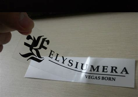 vinyl sticker paper for printing clear vinyl blackink