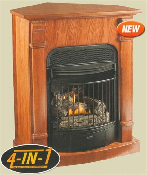 windsor dark oak ventless gas fireplace in ng with remote