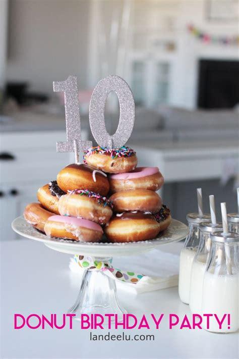 donut birthday party donut cake landeelucom