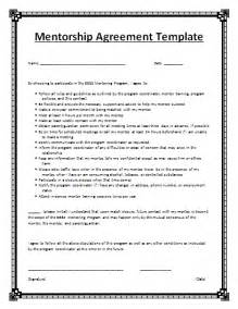 mentoring application templates mentorship agreement template free agreement templates
