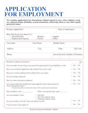 Application Employment Verification Self Declaration Of Family Income Community And