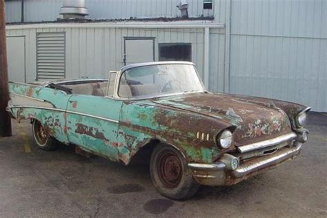 Tropical Colors For Home Interior by Rusty 1957 Chevrolet Bel Air Convertible