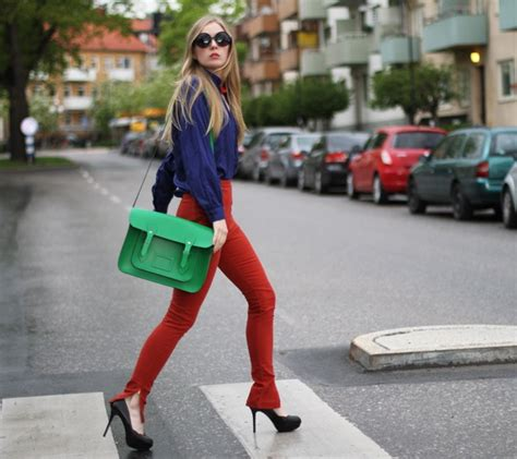 colour style street style carolina engman colorblock blckdmnds