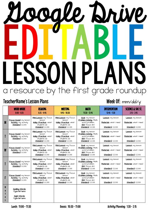 middle school lesson plan template inspirational science lesson