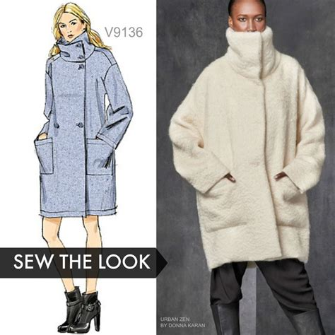 sewing pattern unlined jacket sew the look vogue patterns v9136 unlined coat sewing