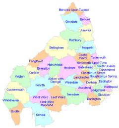 Map Of Northern England by Opinions On Northern England