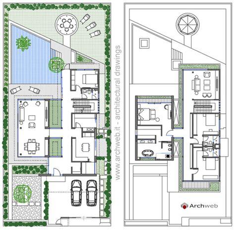 Villette A Due Piani Progetti Pianta by Villa Unifamiliare Dwg
